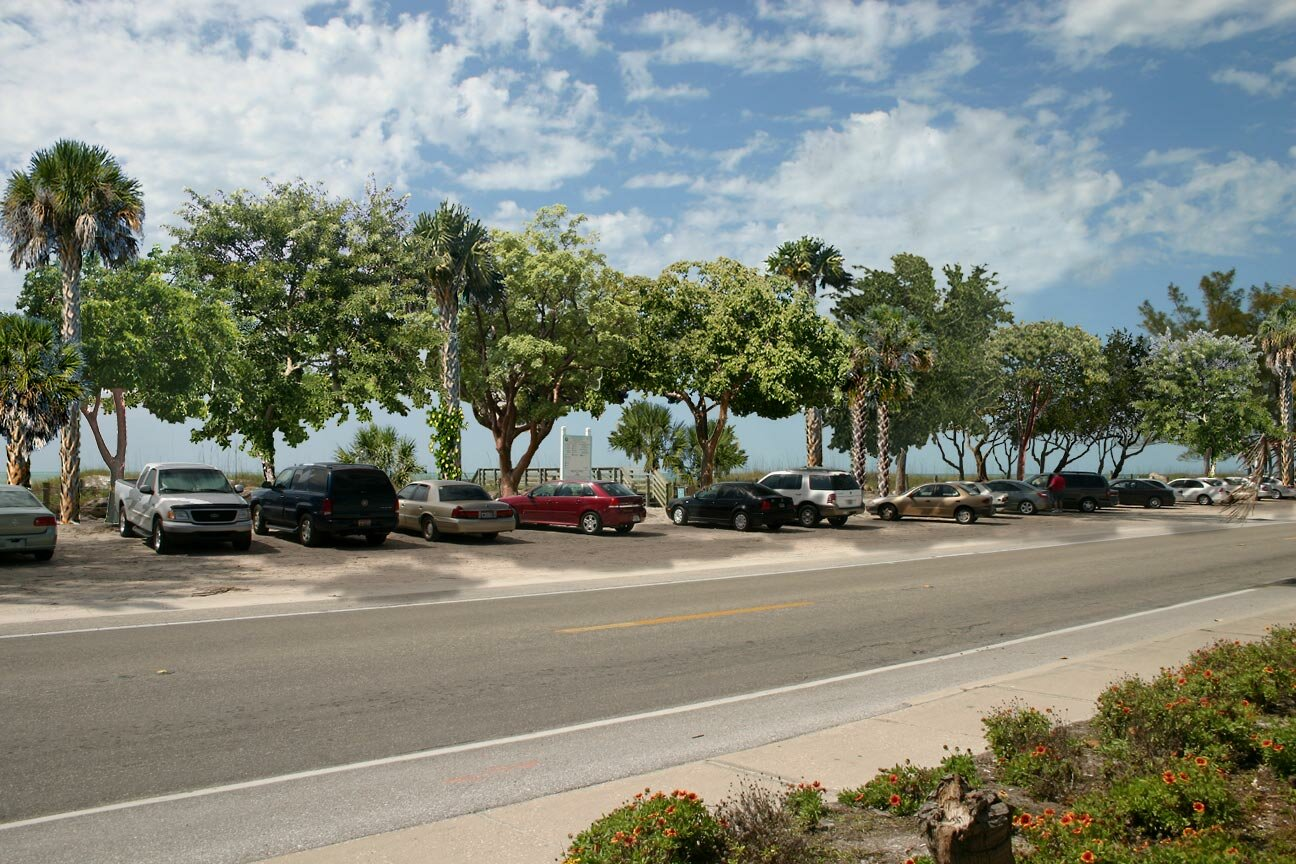 Coquina Beach with New Trees